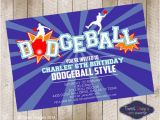 Dodgeball Birthday Party Invitations Dodgeball Printable Birthday Invitation by Tweetpartyboutique