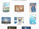 Dodgers Birthday Card Dodgers Day Pack Los Angeles Dodgers Day Pack Dodgers
