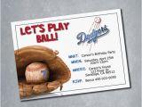 Dodgers Birthday Card Los Angeles Dodgers Digital Birthday Invitation by