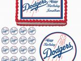 Dodgers Birthday Card Los Angeles Dodgers Edible Cake topper Cupcake Image