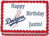 Dodgers Birthday Card Los Angeles Dodgers Edible Photo Cake topper