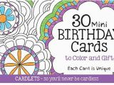 Does Barnes and Noble Have Birthday Cards Cardlets 30 Mini Birthday Cards to Color and Gift by Cq