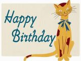 Does Barnes and Noble Have Birthday Cards Smiling Cat Birthday Card with Envelope by Grace Skaar