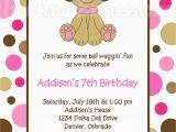 Dog Birthday Invites Birthday Invites Awesome 10 Puppy Birthday Invitations