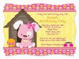 Dog Birthday Invites Dog themed Birthday Party Invitations Dolanpedia