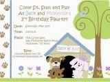 Dog Birthday Invites Free Dog themed Birthday Party Invitations Template Free