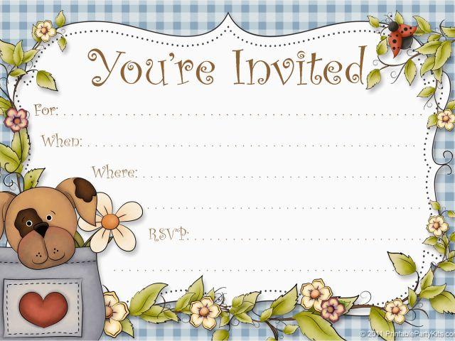 Dog Birthday Party Invitation Templates Invitations