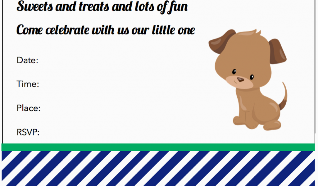 Free Dog Birthday Invitation Templates
