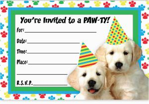 Dog Birthday Party Invitation Templates Invitations