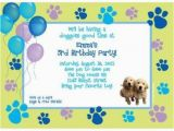 Dog Birthday Party Invitation Templates Puppy Party Personalized Invitation Each wholesale