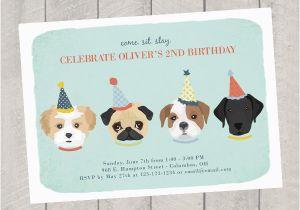 Dog Themed Birthday Invitations Theme Invitation Children 39 S Invite