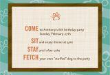 Dog themed Birthday Invitations Dog theme Birthday Invitations 12