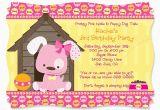 Dog themed Birthday Invitations Dog themed Birthday Party Invitations Dolanpedia