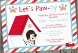 Dog themed Birthday Invitations Puppy Dog Birthday Party Invitation Printable Puppy themed