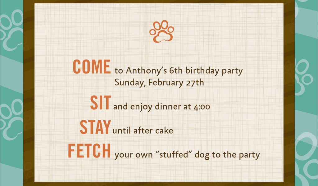 Download By SizeHandphone Tablet Desktop Original Size Back To Dog Themed Birthday Party Invitations