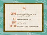 Dog themed Birthday Party Invitations Dog theme Birthday Invitations 12