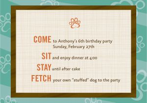 Dog Themed Birthday Party Invitations Theme 12