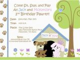 Dog themed Birthday Party Invitations Free Dog themed Birthday Party Invitations Template Free