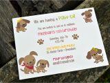 Dog themed Birthday Party Invitations Kids Puppy Dog Party Invitations Kids Birthday Party