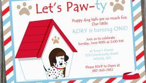 Dog themed Birthday Party Invitations Puppy Dog Birthday Party Invitation Printable Puppy themed