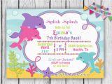 Dolphin Birthday Invitations Printable Dolphin Birthday Invitation Dolphin by Stardustpartyprints