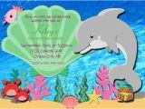 Dolphin Birthday Invitations Printable Dolphin Birthday Invitation Printable Under the Sea Photo
