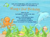 Dolphin Birthday Invitations Printable Dolphin Birthday Party Invitation Ideas Bagvania Free
