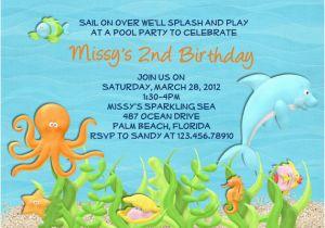 Dolphin Birthday Invitations Printable Party Invitation Ideas Bagvania Free