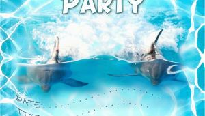 Dolphin Birthday Invitations Printable Free Kids Party Invitations Dolphin Party Invitation