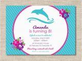 Dolphin Birthday Invitations Printable Personalized Dolphin Birthday Party Invitations Diy Printable