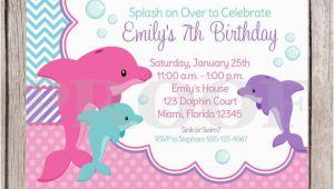 Dolphin Invitations Birthday Dolphin Birthday Party Invitation Ideas Bagvania Free