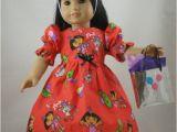Dora Birthday Dresses Dora the Explorer Birthday Dress American Girl Doll Dress