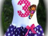 Dora Birthday Dresses Items Similar to Girls Custom Boutique Dress Dora Birthday