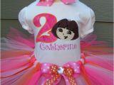 Dora Birthday Dresses Personalized Dora Baby Little Girls Birthday Tutu Outfit