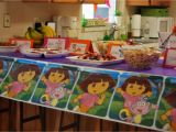 Dora Decorations Birthday Party Party Decoration and Birthday Cake In Dora Birthday Party