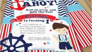 Double Sided Birthday Invitations Nautical Birthday Invitations Nautical Party Invitations