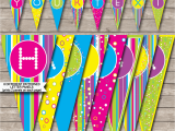 Download A Happy Birthday Banner Colorful Banner Template Happy Birthday Banner