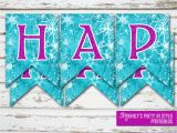 Download A Happy Birthday Banner Instant Download Frozen Happy Birthday Banner