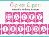 Download Printable Happy Birthday Banner Instant Download Diy Hot Pink Birthday Party Printable