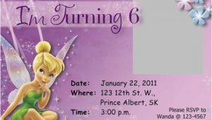Download Tinkerbell Birthday Invitations Tinkerbell Birthday Invitation Free