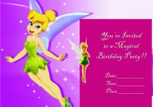 Download Tinkerbell Birthday Invitations Printable Invitation Free