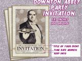 Downton Abbey Birthday Card Downton Abbey Party Invitation Card Printable Invitation Card