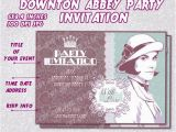 Downton Abbey Birthday Card Items Similar to Downton Abbey Party Invitation Card