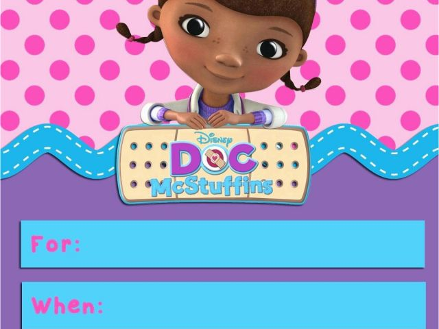 Download By SizeHandphone Tablet Desktop Original Size Back To Dr Mcstuffins Birthday Invitations