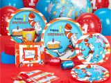 Dr Seuss 1st Birthday Party Decorations Dr Seuss 1st Birthday Standard Party Pack for 16 Ebay
