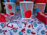 Dr Seuss 1st Birthday Party Decorations Kara 39 S Party Ideas Dr Seuss Boy Girl Cat In the Hat 1st