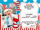 Dr Seuss 1st Birthday Party Invitations Free Printable Dr Seuss 1st Birthday Invitation Template