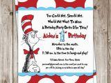 Dr Seuss Birthday Invitations Photo Items Similar to Dr Seuss Birthday Invitation On Etsy