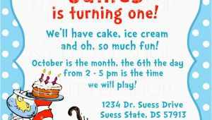 Dr Seuss Birthday Invitations Wording Dr Seuss Birthday Invitations Wording Free Invitation