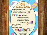 Dr Seuss Birthday Invite Dr Seuss Birthday Invitation Digital